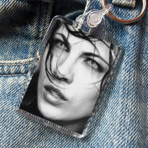 Kate Beckinsale - Original Art Keyring #js004