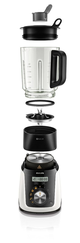 Philips Avance Collection HR2091/30 - Licuadora (2 L, 1,5 L, Paso, 2 año(s), Batidora de vaso, Negro, Blanco): Amazon.es: Hogar