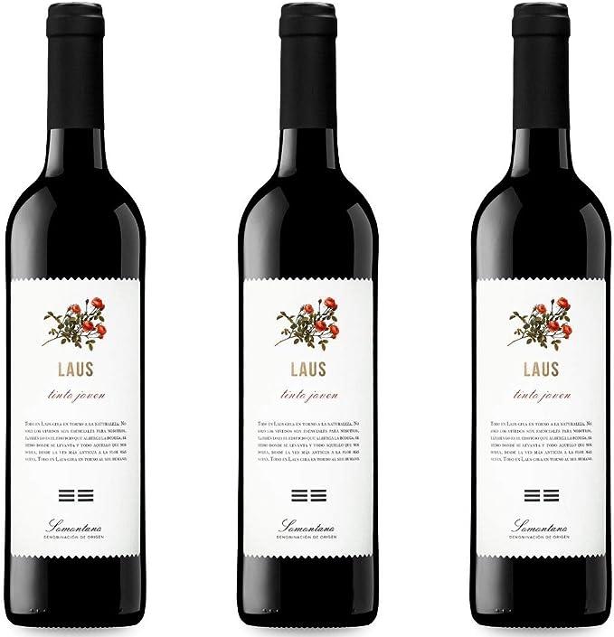 Laus Tinto Joven Vino Tinto - 3 botellas x 750ml - total ...
