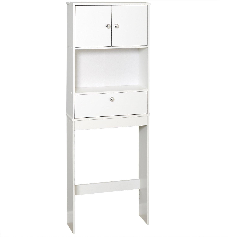 Zenna Home 9401W, Drop Door Bathroom Spacesaver, White by Zenna Home