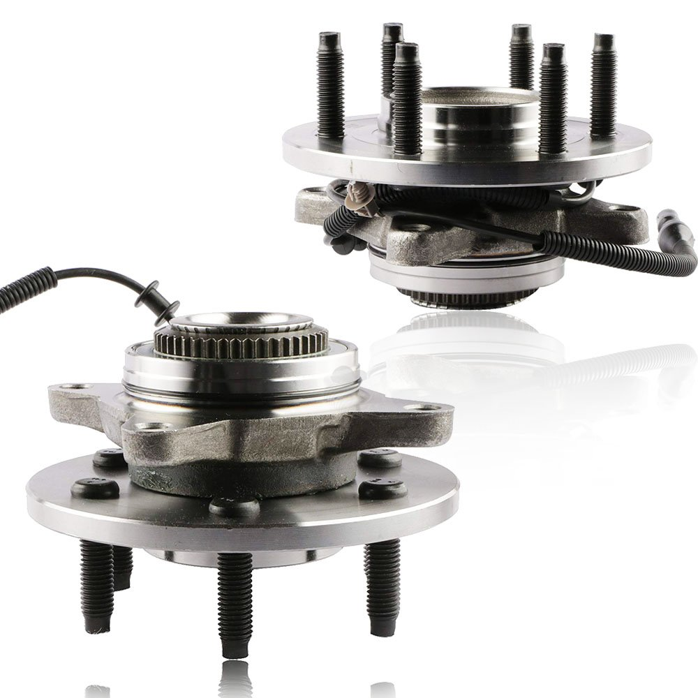 MOSTPLUS Wheel Bearing Hub Front Wheel Hub and Bearing Assembly for Ford F-150, Lincoln Mark LT 4x4 With ABS 6 Lug 515079x2 (Set of 2)