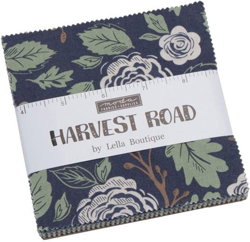 Moda Harvest Road Charm Pack por Lella Boutique; Cuadrados de tela precortados de 42 a 5 cm: Amazon.es: Amazon.es
