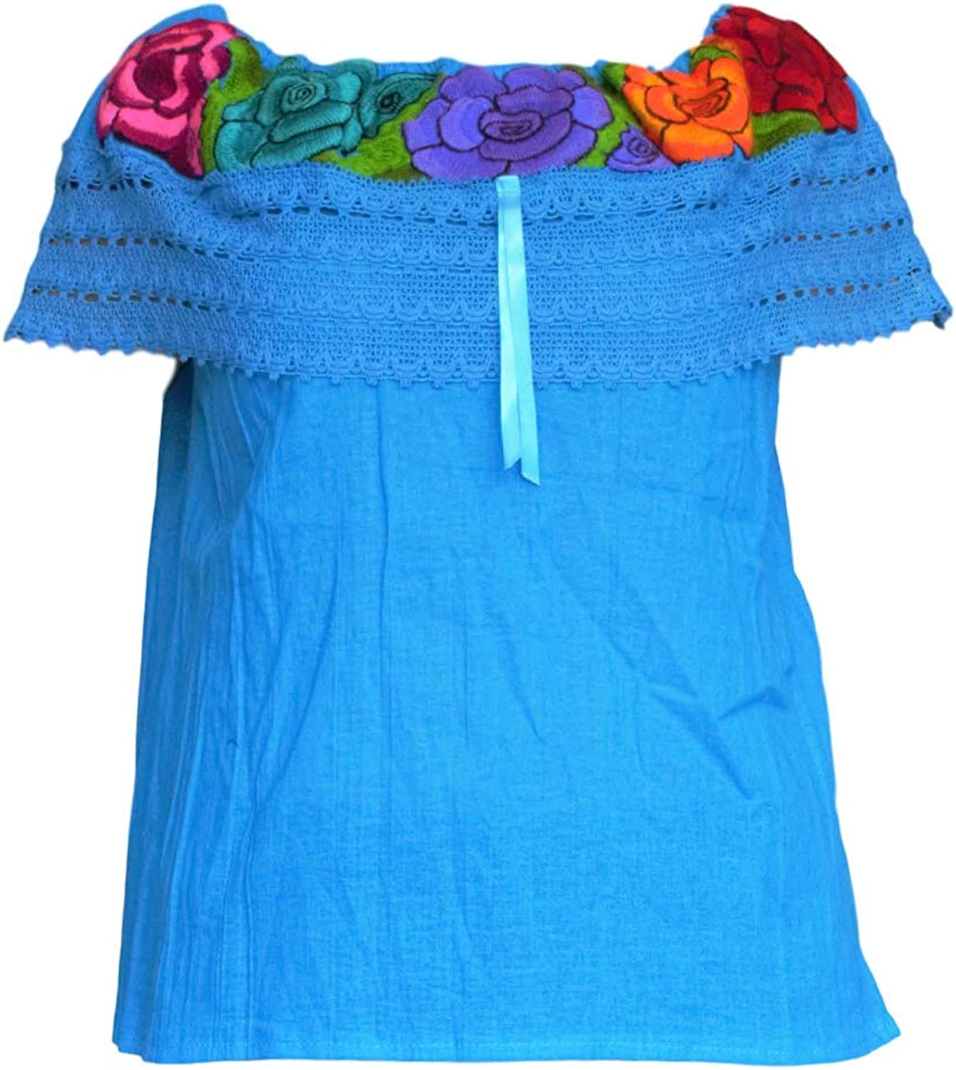 Mexican Shirts for Women Mexican Fiesta Custome Made in Chiapas Choose Size&Color