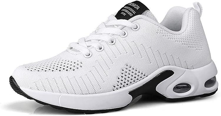 Dannto Zapatos Deporte Mujer Zapatillas Deportivas Correr Gimnasio Casual Zapatos para Caminar Mesh Running Transpirable Aumentar Más Altos Sneakers: Amazon.es: Zapatos y complementos