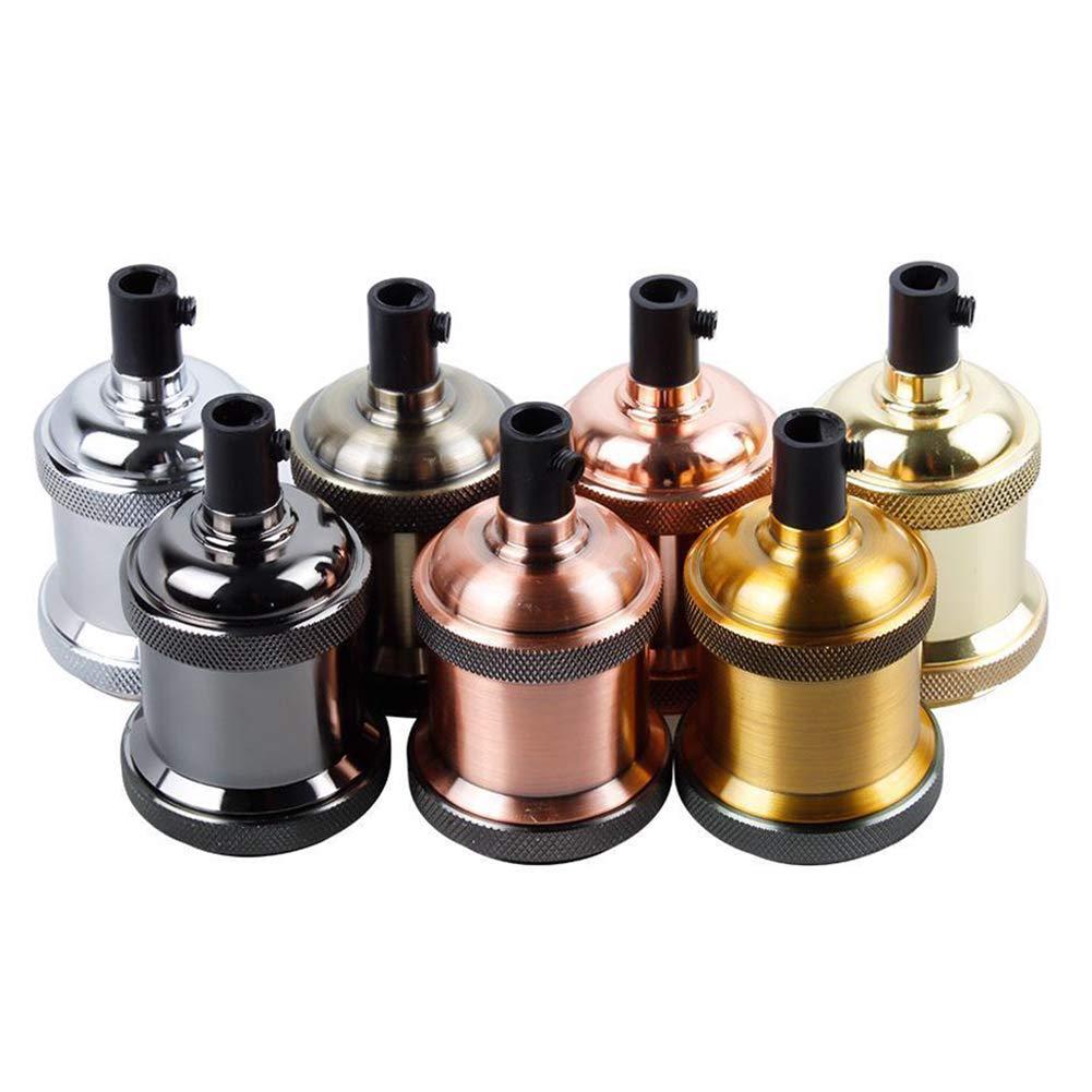 4 St/ück Lampenfassung Aluminiumsockel Gl/ühbirnensockel Pendelleuchten-Adapter E27 Vintage Lampe Keramik-Lampenfassung Edison-Lampenhalter