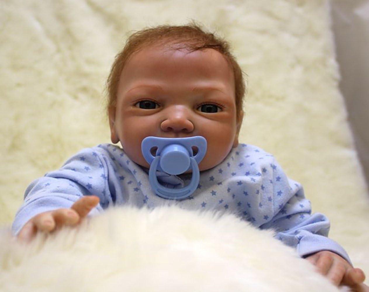Amazon.es: OUBL 18pulgadas 45 cm Bebe Reborn muñeca niño Silicona ...