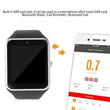 "GT08 Reloj Inteligente Bluetooth 2G a Prueba de Agua con 1.54"" TFT LCD SIM Phone"