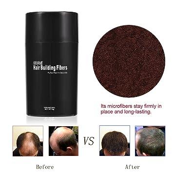 Fibra para la construcción del cabello, 4 colores Fibra para la construcción del cabello Espesador del cabello Solución para la pérdida del cabello ...