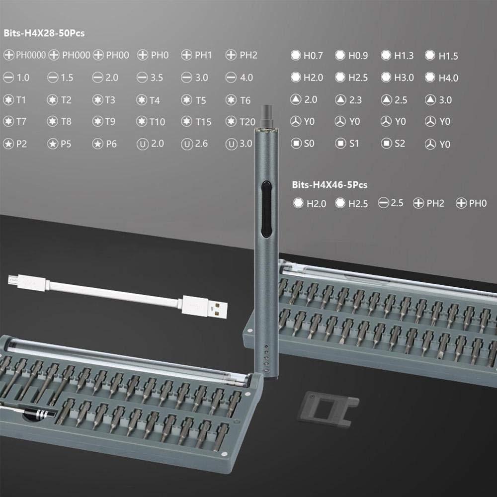 MacBook Womdee Tournevis de Pr/écision Appareil Photo pour iPhone Montres Tournevis /électrique avec 55 Bits de Pr/écision et Lumi/ère de Travail Ordinateur Portable 59 en 1 Mini Tournevis
