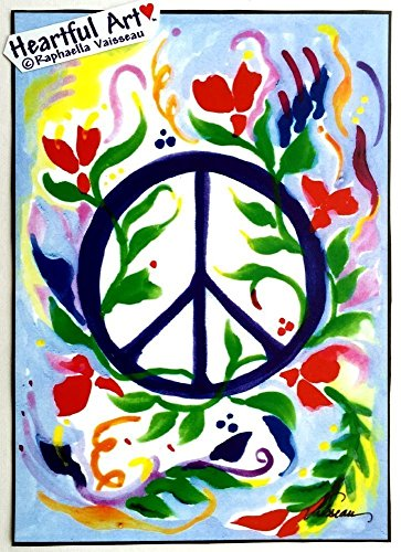 Peace sign 5x7 poster - Heartful Art by Raphaella Vaisseau