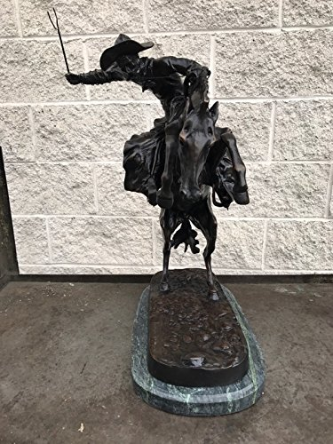 - LIFETIME INTERNATIONAL INC American Handmade Bronze Sculpture Statue Bronco Buster By Frederic Remington Regular Size 24
