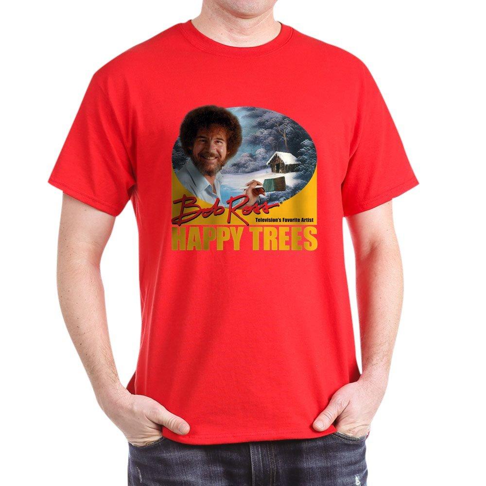 2524a597e Amazon.com: CafePress Bob Ross Classic 100% Cotton T-Shirt: Clothing