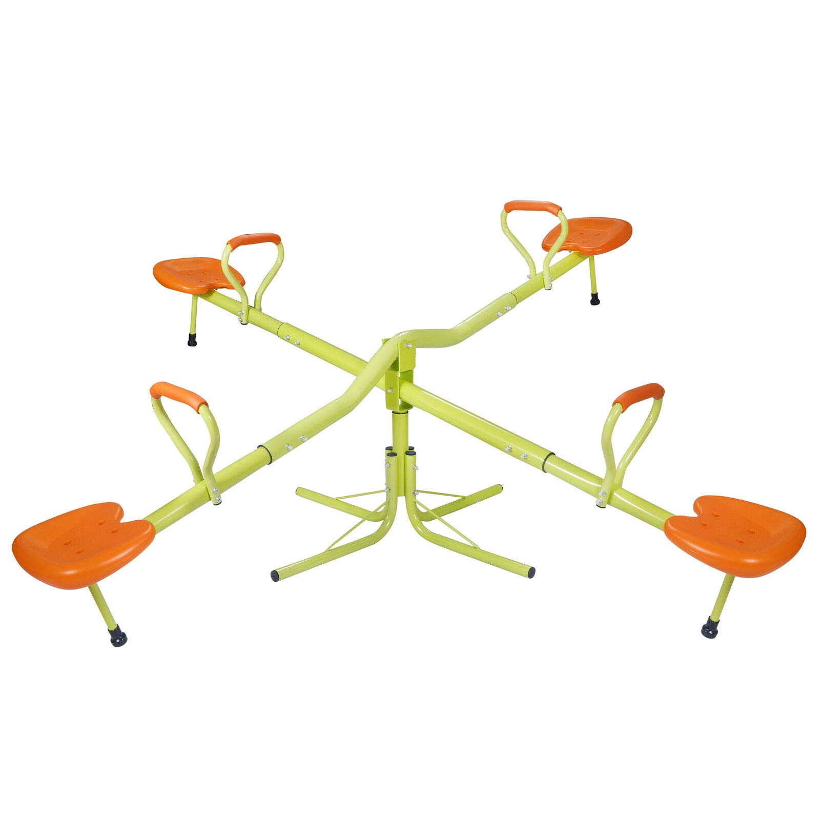Outdoor Fun 360 Degree Spinning Seesaw for 2 or 4 Kids, Children Teeter-Totter Play Set, Playground Equipment Swivel Toys, Ages 3 - 9 by Kids' Teeter Totters