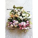 Sweet-Home-Deco-11-Silk-Baby-Ranunculus-Artificial-Flower-Bush-Small-Flower-Bush-Set-of-2-WeddingHome-Decorations-White