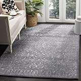 Safavieh Glamour Collection GLM516B Steel and Blue Area Rug, 9′ x 12′ For Sale