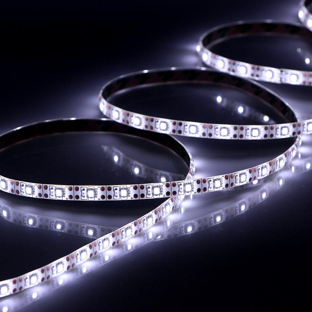 Led Strip Lights Battery Operated, abtong Battery Powered Led Lights Strip Waterproof Led Strip Rope Lights Flexible Led Ribbon Lights, 120leds White-2M/6.56ft