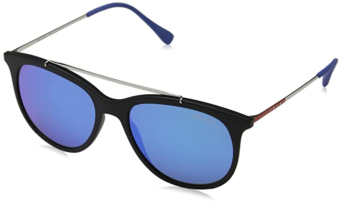 0df11b0b4e6 Amazon.com  Prada Linea Rossa Men s 0PS 02TS Black Rubber Blue ...