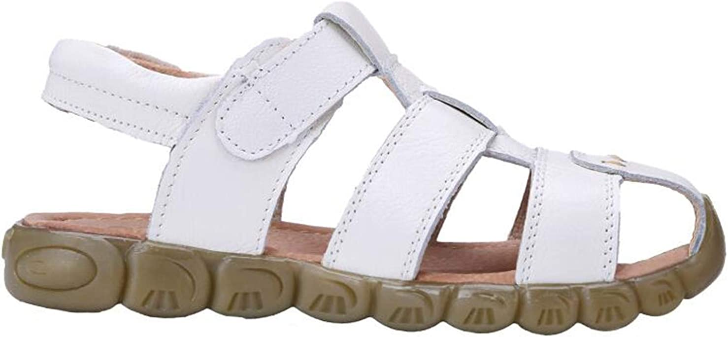 DADAWEN Boys Girls Leather Closed Toe Outdoor Sport Sandals Toddler//Little Kid//Big Kid