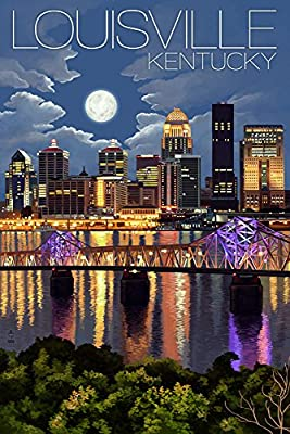 Louisville, Kentucky - Skyline at Night