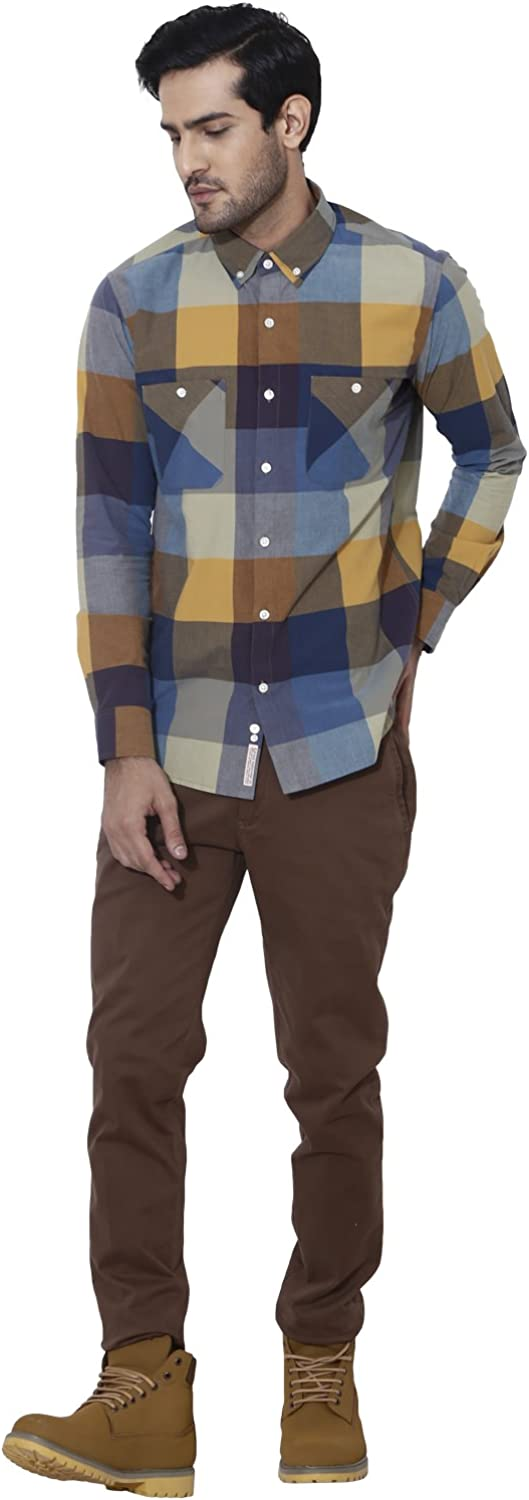 Sprezz Slim Fit Hipster Check Button Down Shirt