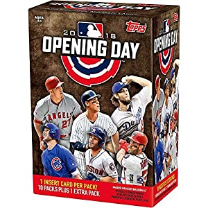 Topps 2018 Opening Day Baseball Factory Sealed 11 Pack Blaster Box Baseball Wax Packs