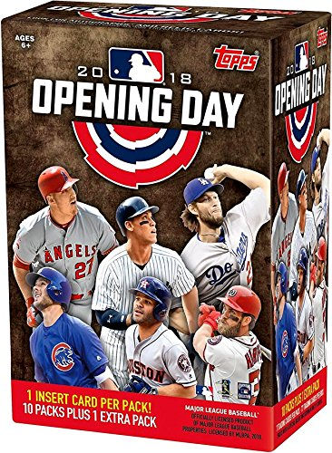 1 Stamp Inserts - Topps 2018 Opening Day Baseball Factory Sealed 11 Pack Blaster Box  - Baseball Wax Packs
