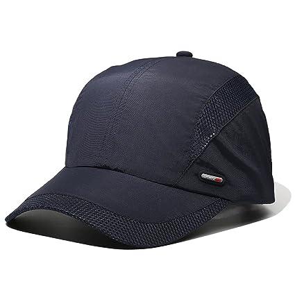 17e4bd438edc LAOWWO Sombrero de Gorra de Béisbol, Secado Rápido Delgado Gorra de Running  Golf Deportes Gorros para El Sol para Hombres Mujeres