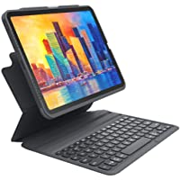 ZAGG - Pro Keys Wireless Keyboard and Detachable Case - Compatible with The Apple iPad Air (4th Gen) - iPad 10.9 inch…