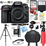 Nikon D7500 20.9MP DX-Format 4K Ultra HD Digital SLR Camera (Body Only) with 64GB Deluxe Bundle - (Certified Refurbished) (Nikon D7500 Camera Body Deluxe Bundle)