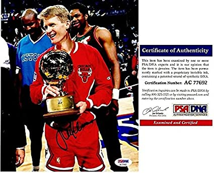ceae6ae07 Image Unavailable. Image not available for. Color  Steve Kerr Autographed  Signed Chicago Bulls ...