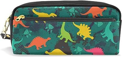 Estuche con diseño de dinosaurios de gran capacidad para lápices con cremallera y bolsa de maquillaje: Amazon.es: Oficina y papelería
