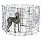 MidWest Homes for Pets Exercise Pen for Pets with Split Max Lock Door, 48-Inch, Black