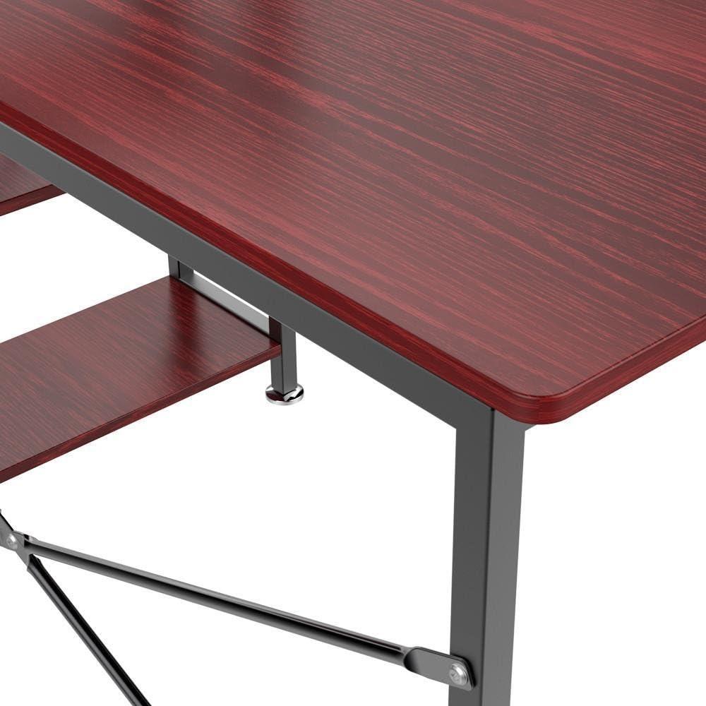 Popamazing Ordinateur Bureau Home Office Bureau étudiant PC Workstation Table Ordinateur Portable 3Niveaux Étagères Marron £ ¨ £, Marron, 610226