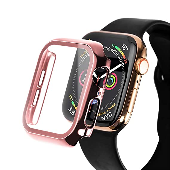 Amazon.com: SLEO Compatible Apple Watch Series 5 44mm Screen ...