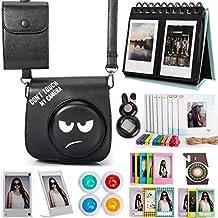 Woodmin Carton 12-in-1 Fujifilm Instax Accessories Bundle for Fuji Instant Mini 8 8+ Mini 9 Camera (Camera case/photo bag/Albums/Frames/Stickers/Filters/Selfi-Lens)
