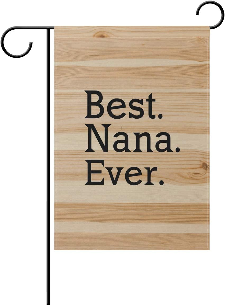 """poeticcity Best Nana Ever Home Decorative Outdoor Two-Sided Garden Flag 12""""x18"""" House Yard Seasonal Flags"""