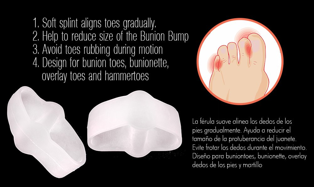 Amazon.com: USF00T® 100% Silicon gel Orthotics Bunion Sleeve/Corrector (set of 2 pcs) (Large): Health & Personal Care