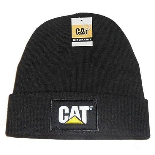 c1b91e95 Amazon.com : Caterpillar CAT Logo Black Beanie NEW Knit Cap Hat : Cold  Weather Hats : Clothing
