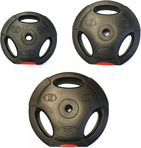 Fxr Sports 1 Tri Grip 2 5 10kg Vinyl Weight Plates Discs Weights Fitness Gym Amazon Co Uk Sports Outdoors