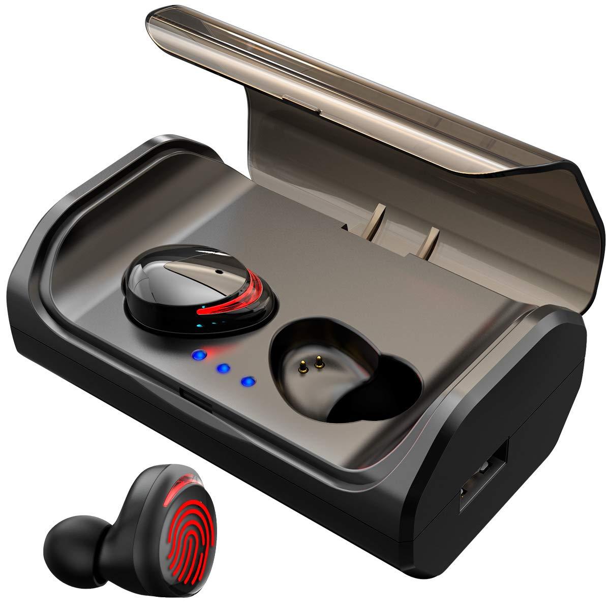 98764be1292 [ Nuovo Auricolari Bluetooth 5.0 ] HolyHigh senza Fili Sport In ear Cuffie  Bluetooth IPX6 Wireless