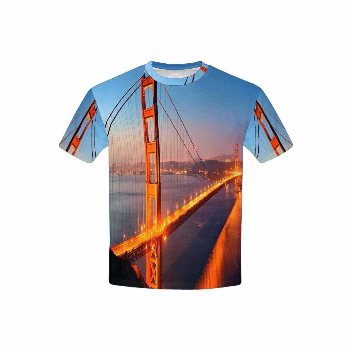 INTERESTPRINT Golden Gate Bridge San Francisco Kids T-Shirt XS-XL