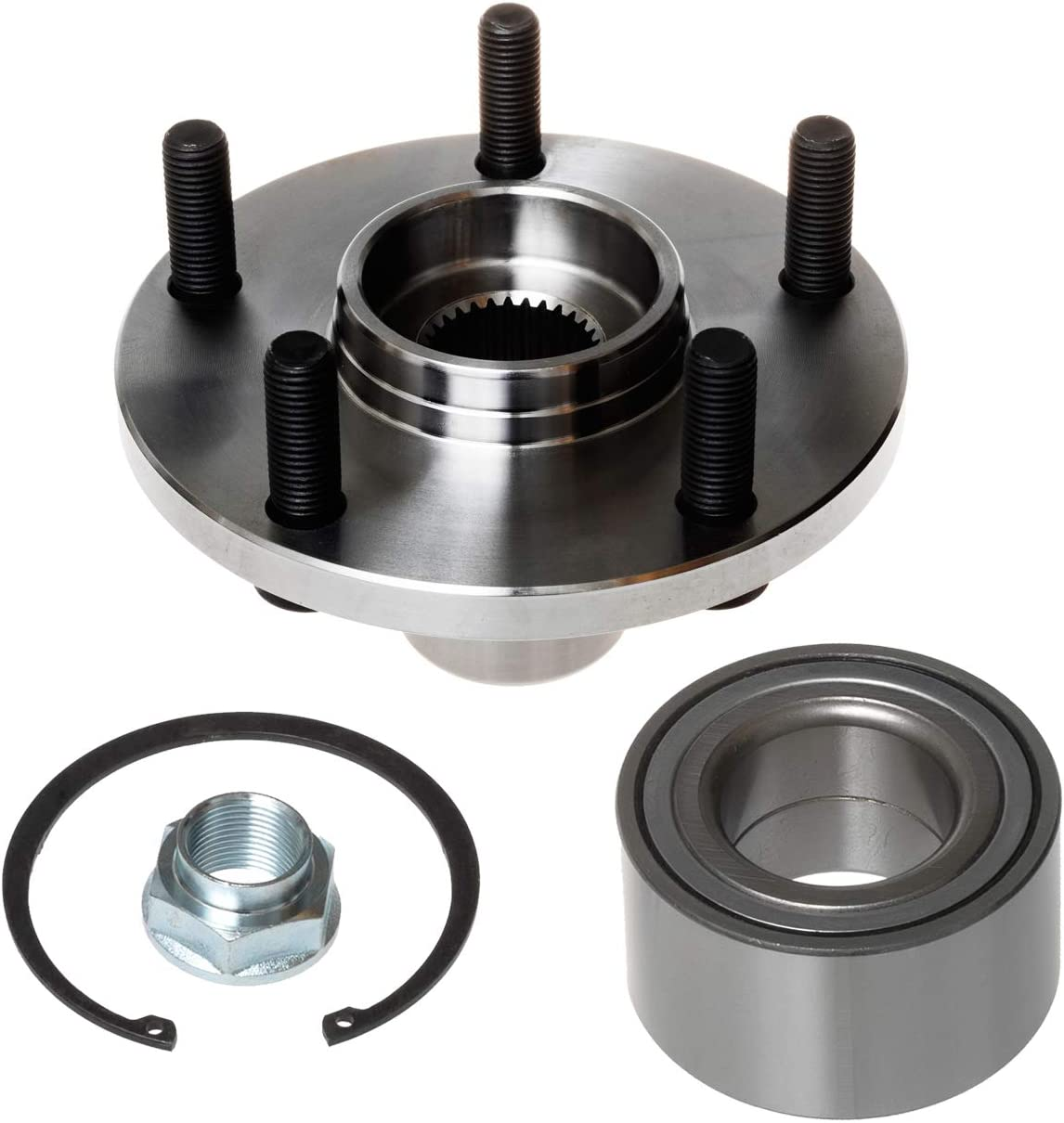Pair 3.0L V6 TUCAREST 518509 x2 Lexus ES300 RX300 5 Lug;Hub Repair Kit Front Wheel Bearing and Hub Assembly Compatible With Toyota Avalon Camry Sienna Solara