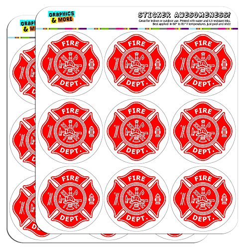 Firefighter Firemen Maltese Cross Red 2