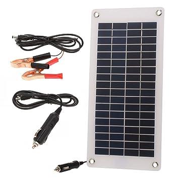 Decdeal 8.5W/12V Mantenedor Cargador Solar de Batería de ...
