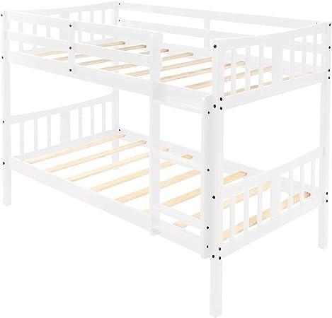Beck OrlaIigt Bedroome for niños Twin sobre Twin Bunk Bed Cama Doble de Madera con Escalera: Amazon.es: Hogar