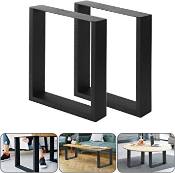 Cocoarm Metal Table Legs Set Of 2 Table Legs Industrial Design Table Frame For Furniture Side Table Dining Table Coffee Table Bench Black 40 X 43 Cm Amazon De Baumarkt