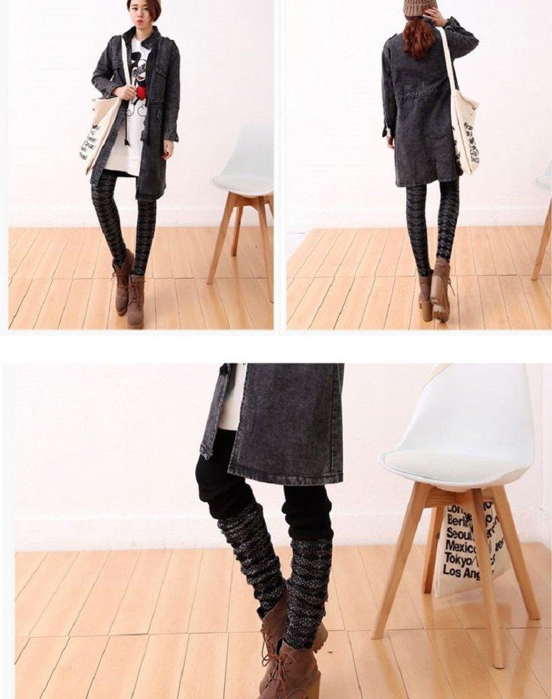 AM Landen Wool Blend Knee Highs,Thigh High,Cuffs Knit Crochet Leg Warmer(Thigh High Black) by AM Landen (Image #6)