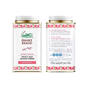 Prickly Heat Powder Snake Brand Cooling Cool Pink Snake Brand Prickly Heat Cooling Powder Soft and Smooth : 140g