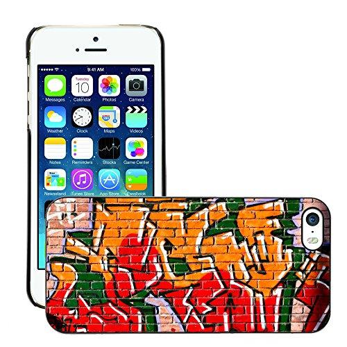 Premio Sottile Slim Cassa Custodia Case Cover Shell // V00002341 Graffiti // Apple iPhone 5 5S 5G