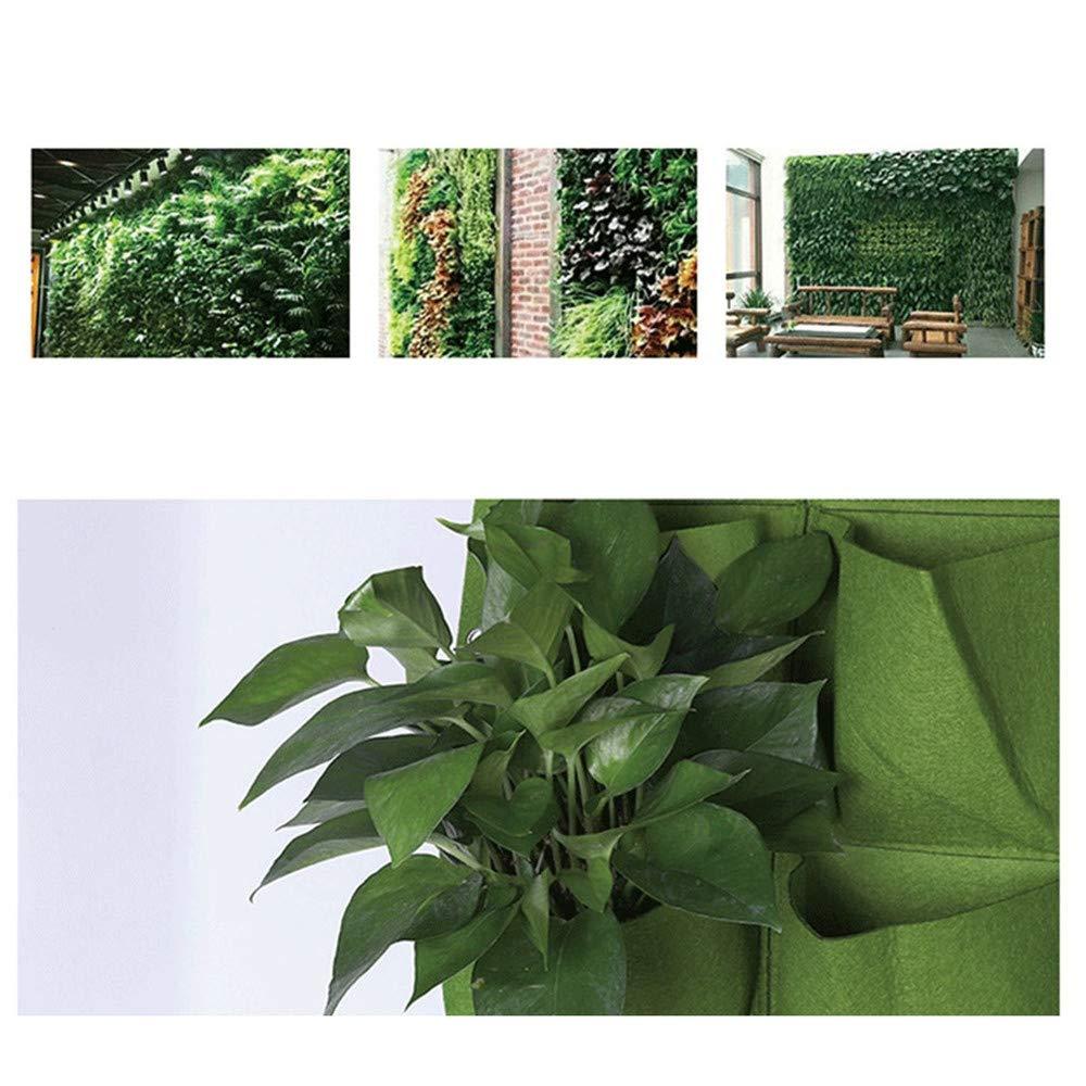 DIYARTS Grow Borse A Parete 36 Tasche Felt Indoor Outdoor Plant Growing Holder Verticale Garden Planter per Erbe Verdure Fiori Verde